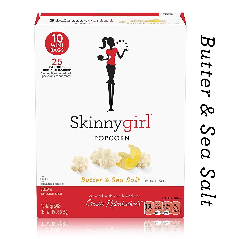 orville redenbacher s skinnygirl butter sea salt microwave popcorn mini bags 15 oz 12 ct walmart com