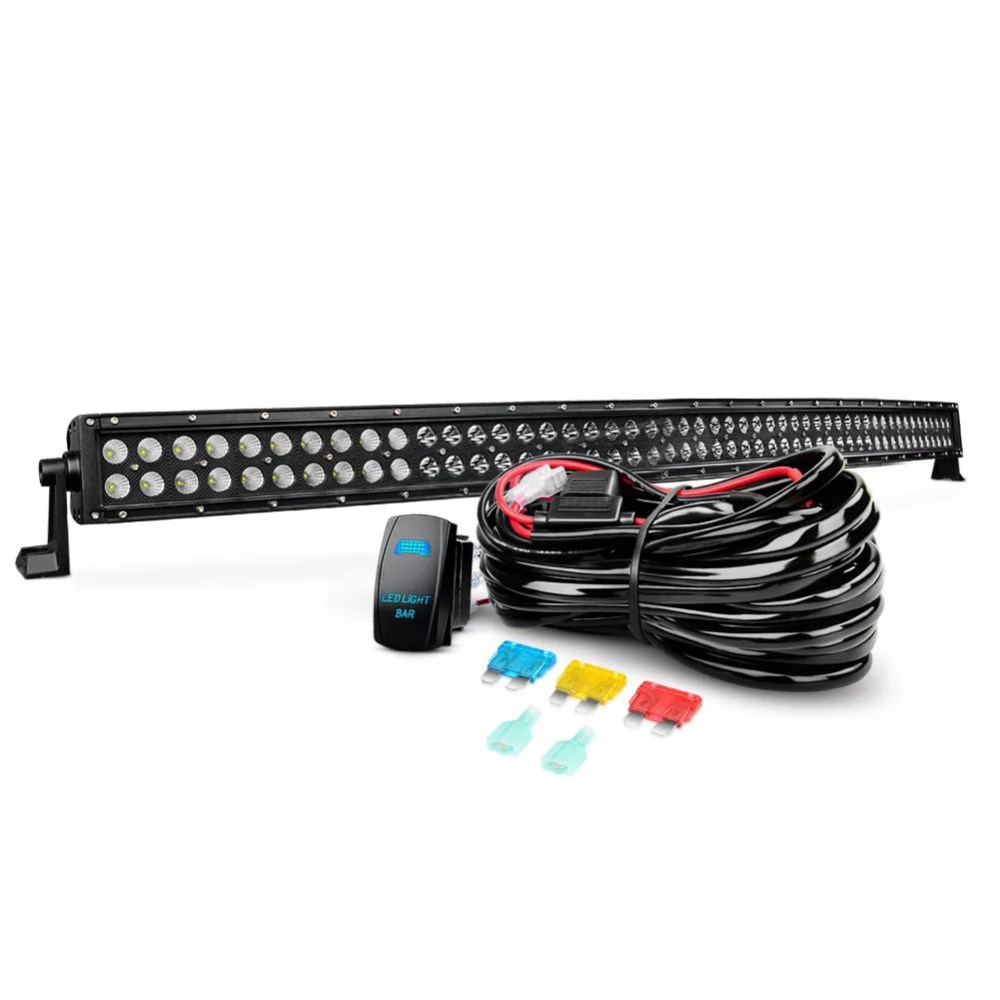 medium resolution of nilight 50 inch 288 w black curved led light bar with wiring harness combo led work light driving fog lamp off road lights for suv ute atv truck 4x4 boat