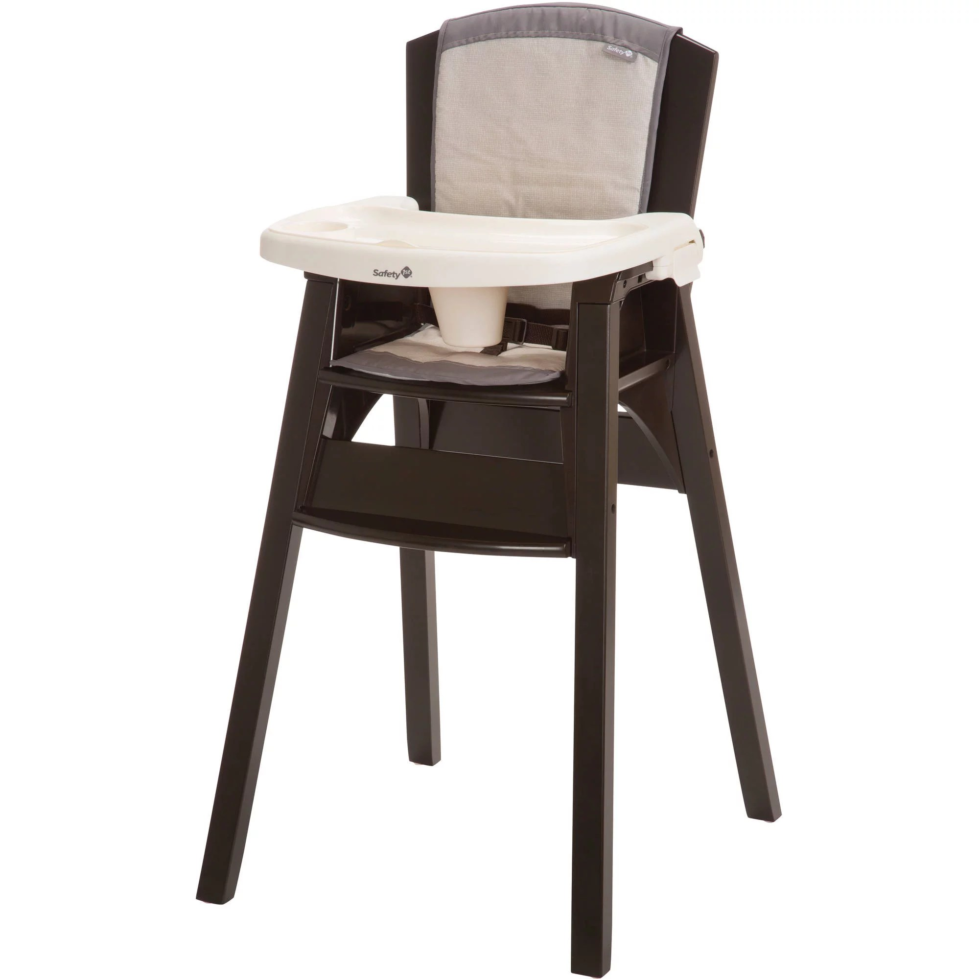 padded high chair leather reclining safety 1st wood beaumont walmart com