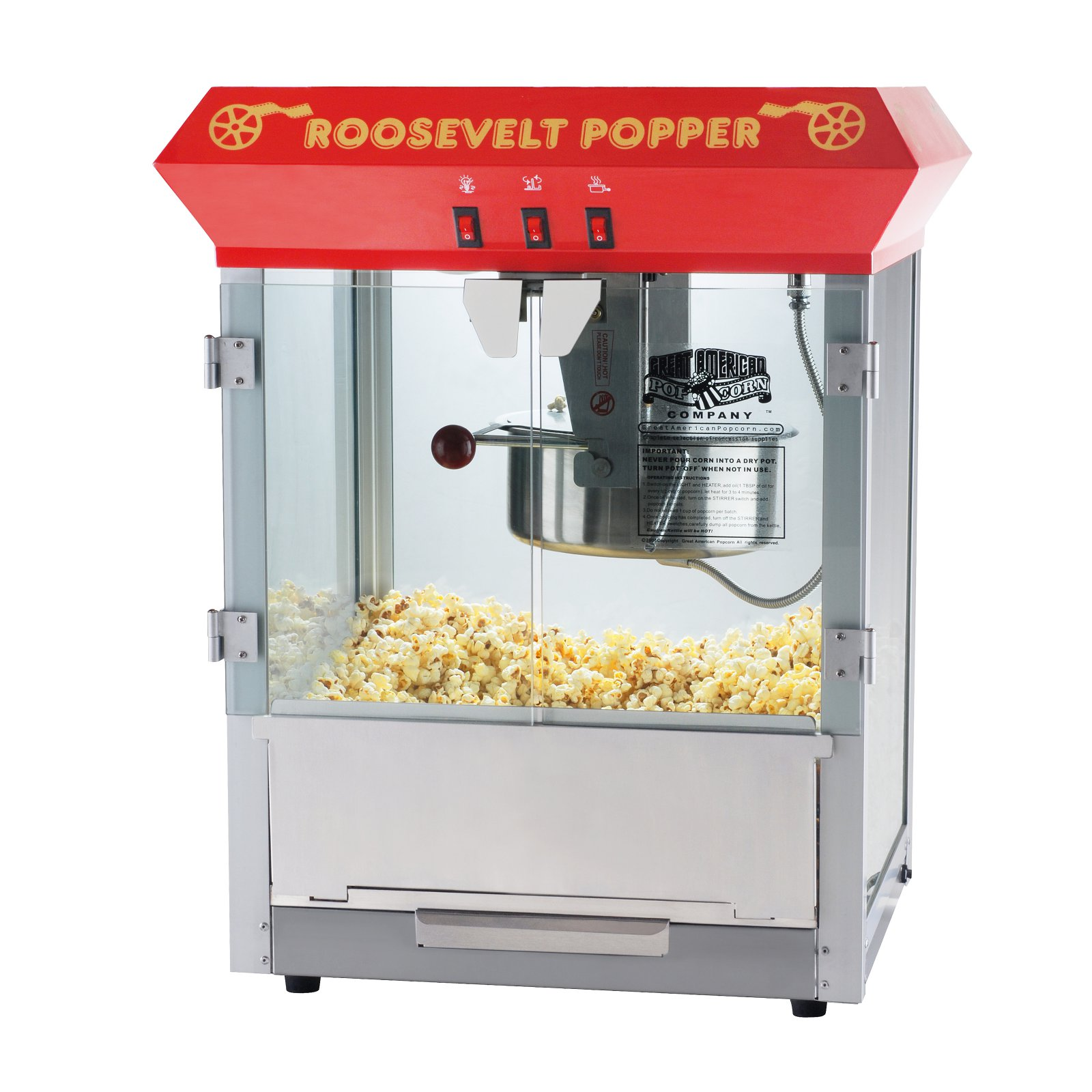 hight resolution of great northern red 8 ounce antique countertop style popcorn popper machine walmart com