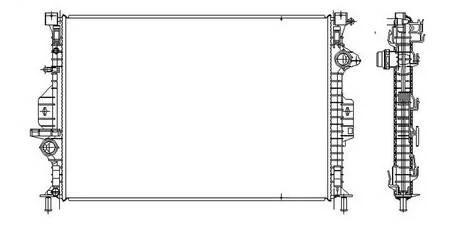 NEW RADIATOR ASSEMBLY FITS VOLVO 2010-2011 XC60 3.2L L6