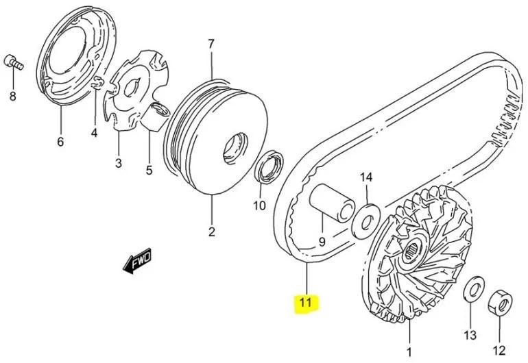 Suzuki OEM Replacement V Drive Belt LT80 Quadsport 87-06