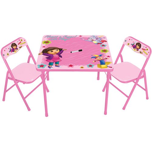 activity table and chair set leave your hat on dance nickelodeon dora the explorer erasable walmart com