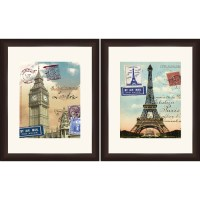 London and Paris Travel Wall Art - Walmart.com