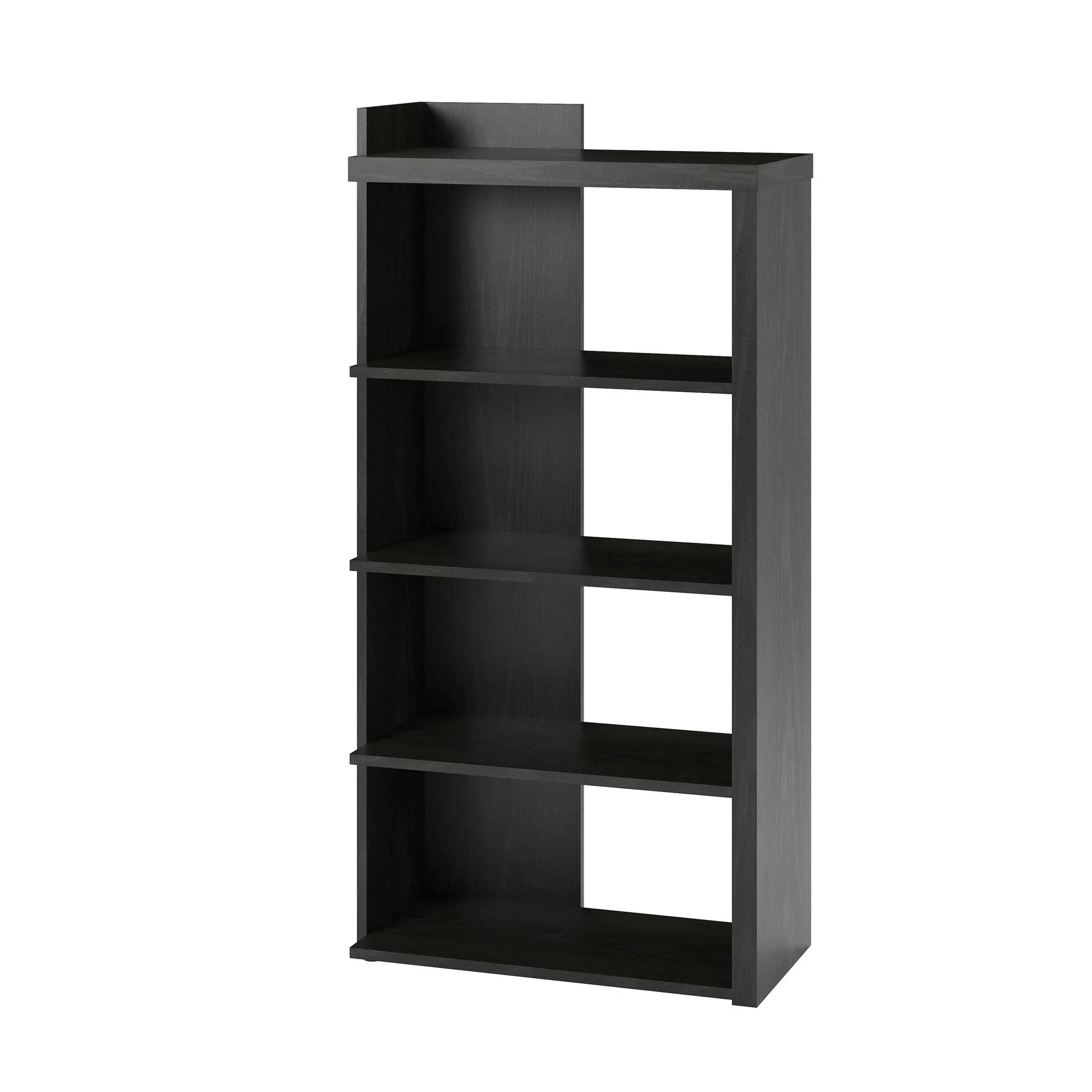 Ameriwood Home Madison 5 Shelf Bookcase Black Oak Walmart Com