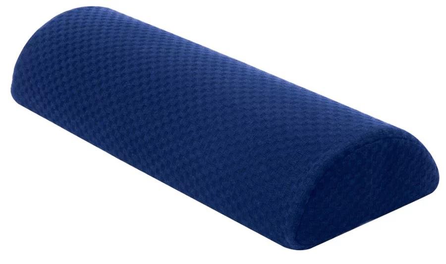 carex memory foam semi roll cushion and bolster pillow navy blue