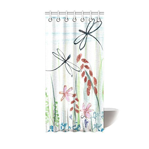 mohome dragonfly shower curtain waterproof polyester fabric shower curtain size 36x72 inches