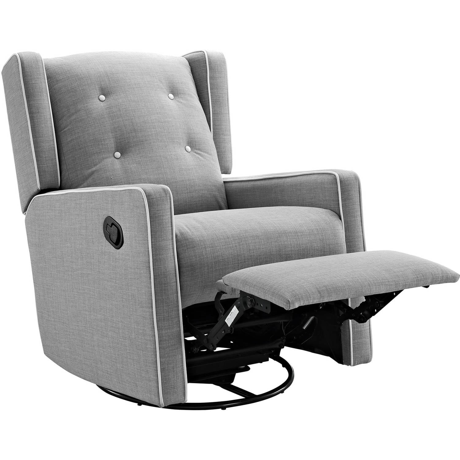 Details About Baby Glider Swivel Rocking Rocker Chair Gliding Recliner Gray Nursery Furniture