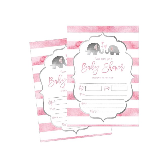 50 Fill In Elephant Baby Shower