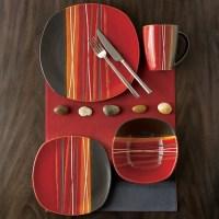 Hometrends Bazaar 16pc Dinnerware Set, Red - Walmart.com