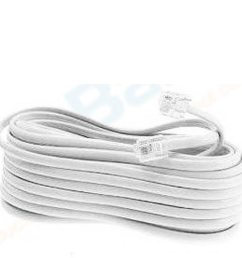 new 50 ft foot telephone phone extension cord cable line wire white rj11 modular walmart com [ 1000 x 1000 Pixel ]