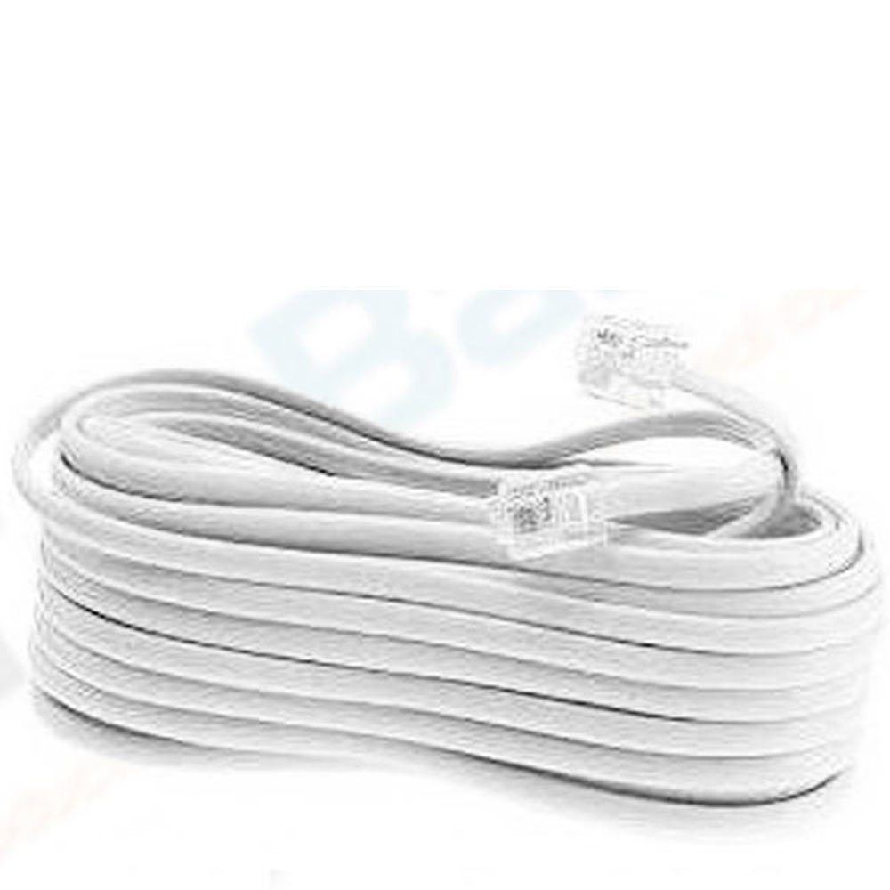medium resolution of new 50 ft foot telephone phone extension cord cable line wire white rj11 modular walmart com