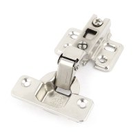 Household Spring Loaded Cabinet Door Hinges Silver Tone 4 ...