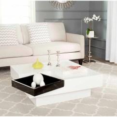 White Living Room Side Table Zebra Decor For Safavieh Wesley Coffee And Black Walmart Com