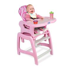 High Chairs For Babies Pvc Folding Lounge Chair Enveea Baby With Playtable Conversion Color Pink And White Walmart Com
