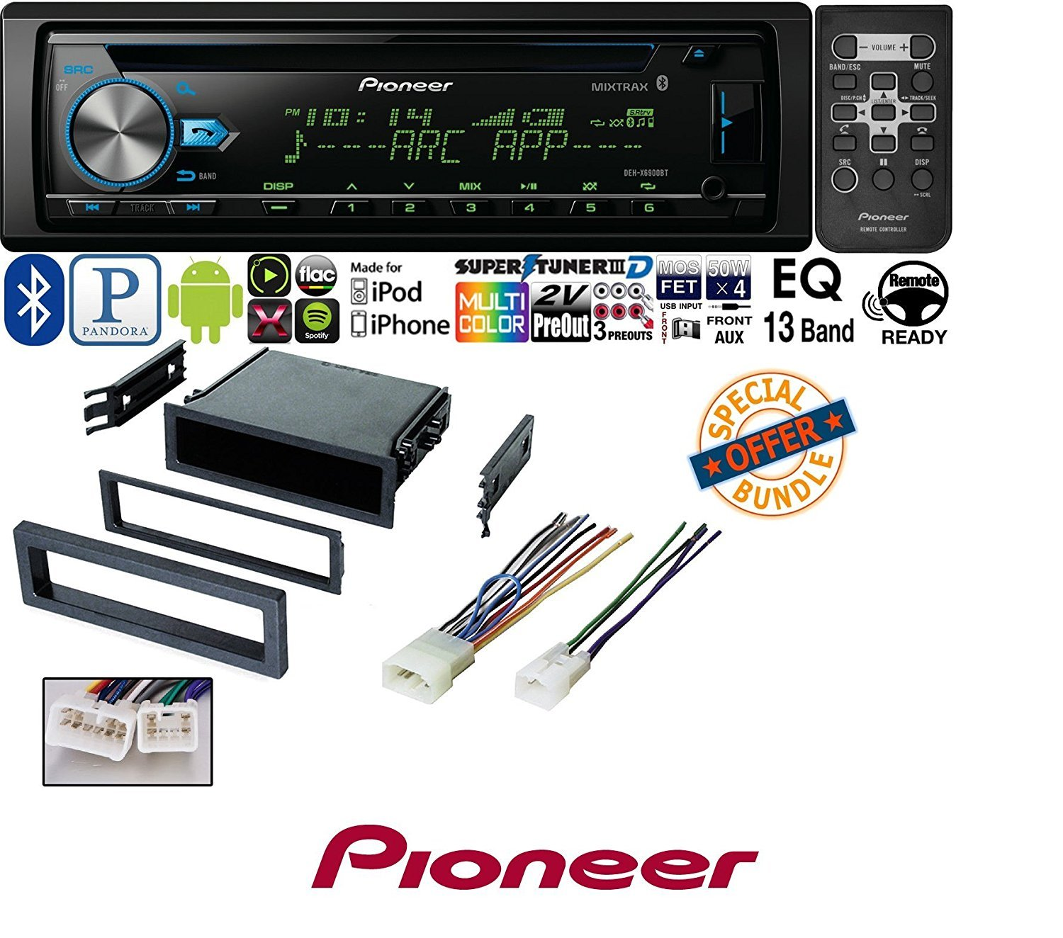 pioneer wiring remote battery diagram for rv cd mp3 wma player built in bluetooth mixtrax control w car