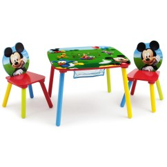 Where To Buy Toddler Table And Chairs 2 Chair Dining Disney Mickey Mouse Wood Kids Storage Set By Delta Children Walmart Com
