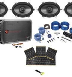 4 polk audio mm572 5x7 1200 watt car speakers 4 ch amplifier wires rockmat walmart com [ 1700 x 1244 Pixel ]