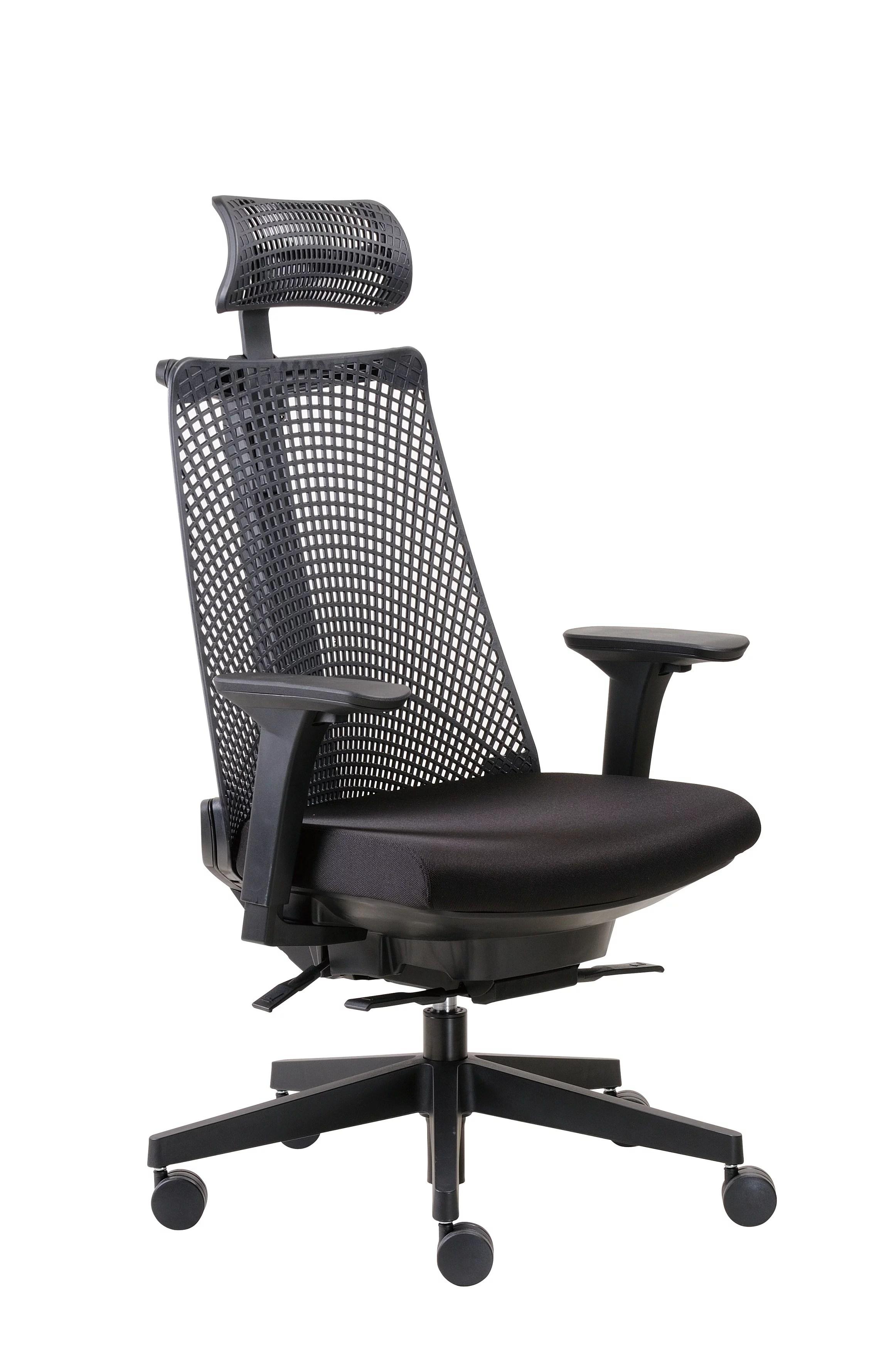 office chair with headrest home depot adirondack boss black contemporary executive walmart com