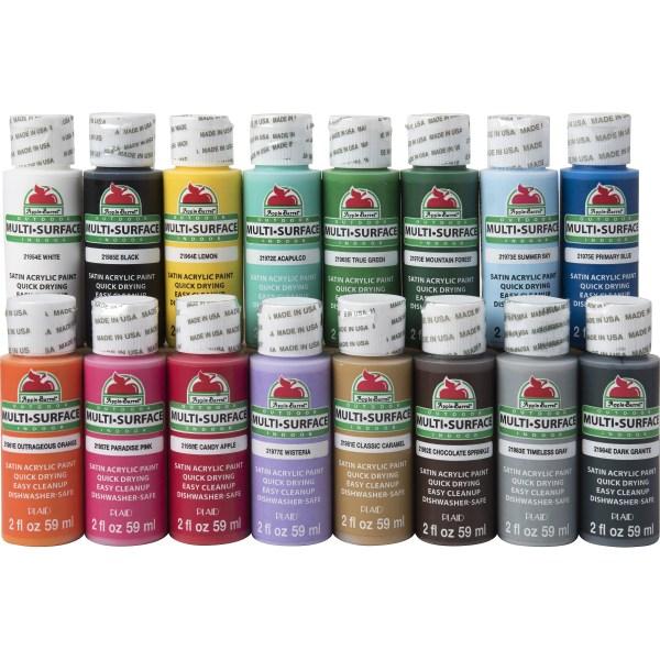 Apple Barrel Multi-surface Paint Set 16 Piece 2-ounce Promoabms1 Selling Colors