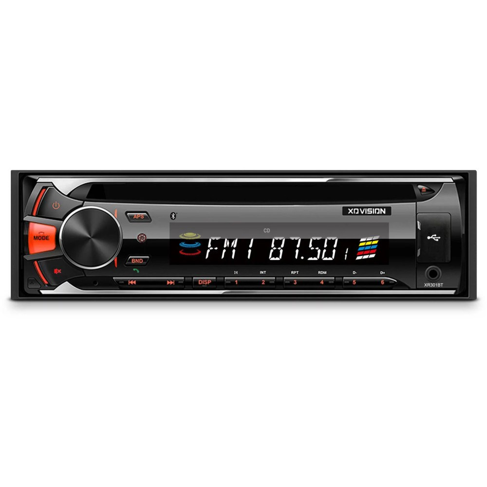 medium resolution of xovision cd and mp3 receiver with bluetooth and detachable face