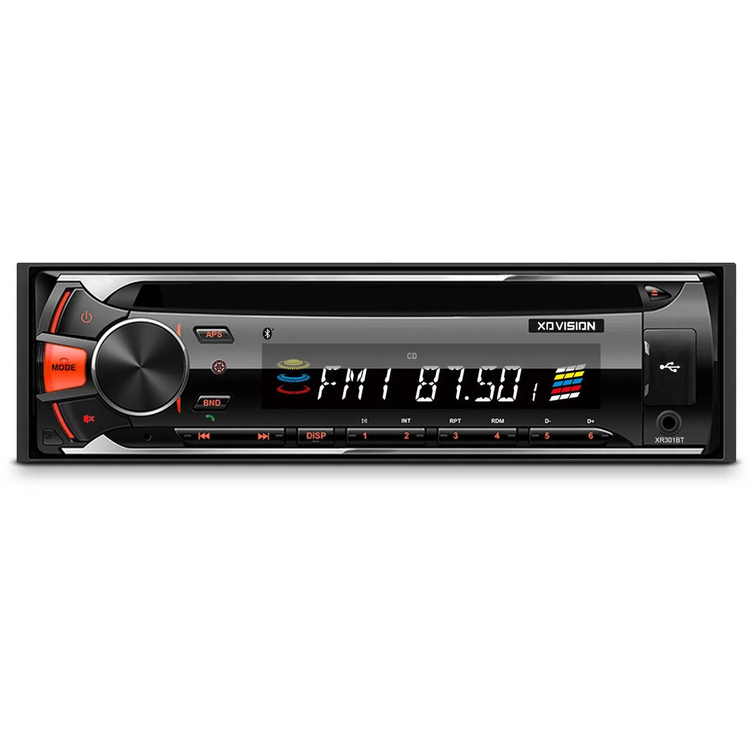 hight resolution of xovision cd and mp3 receiver with bluetooth and detachable face