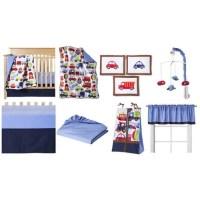 Bacati Cars 10-Piece Crib Bedding Set - Walmart.com