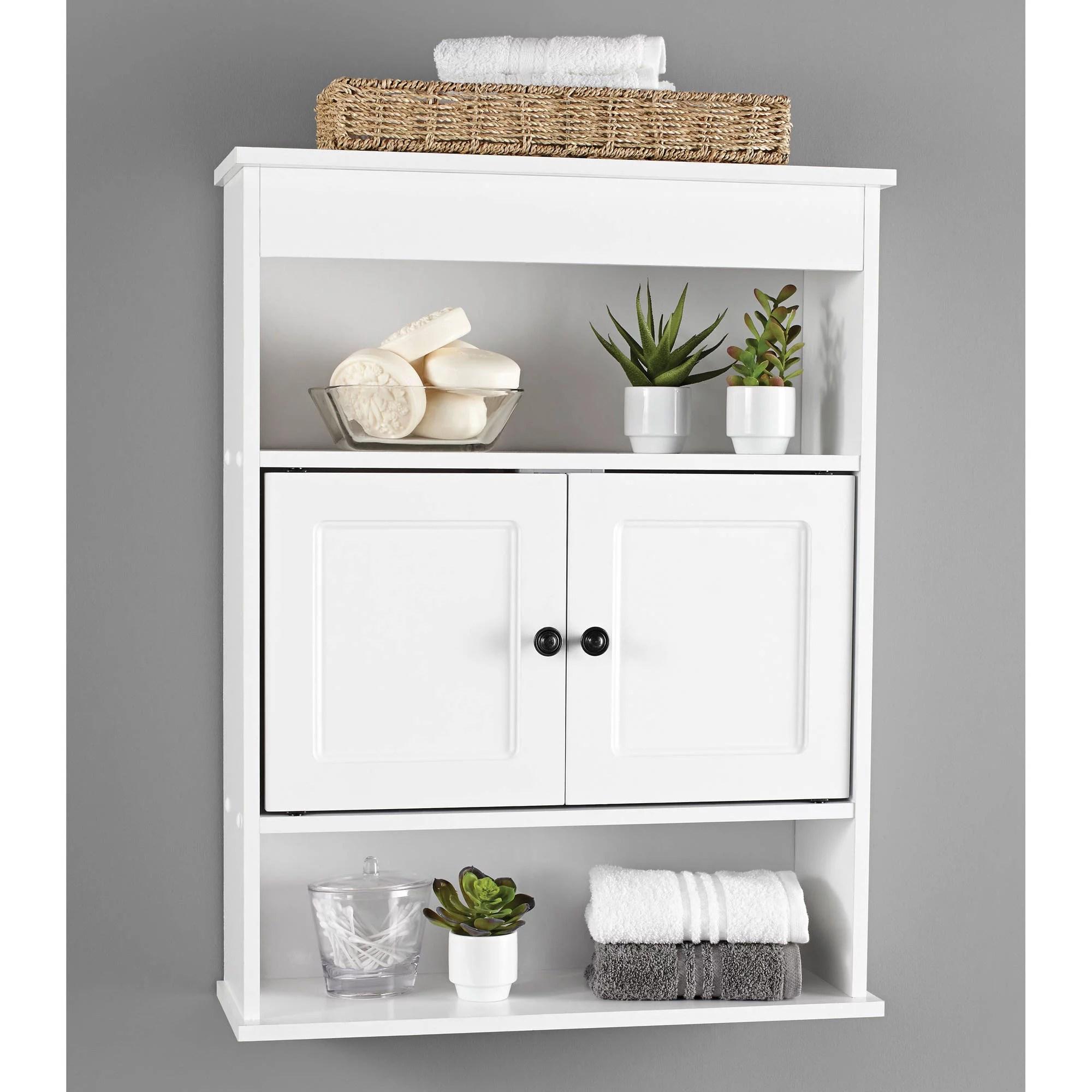 Cabinet Wall Bathroom Storage White Shelf Organizer Over Toilet Mount Towel Bath 43197154934  eBay