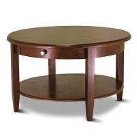 Concord Round Coffee Table, Antique Walnut - Walmart.com