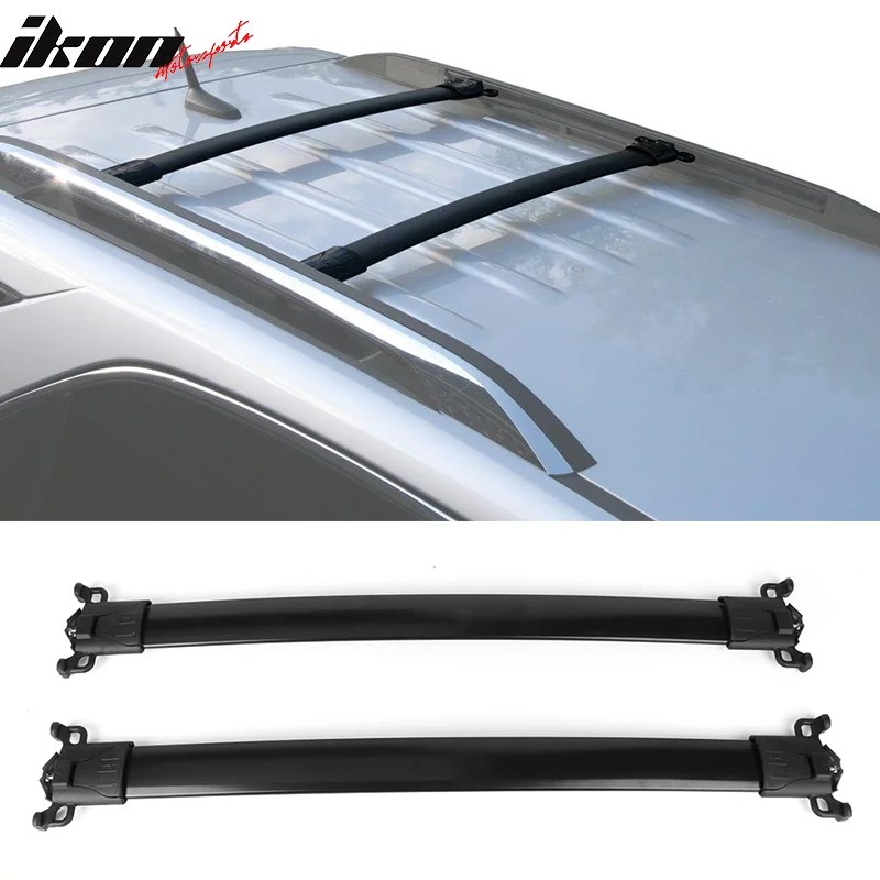 ikon motorsports compatible with 10 17 chevy equinox gmc terrain factory style top roof rack cross bar black