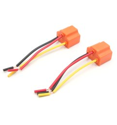 car parts 2 pcs 3 wires h4 fog light extension wire harness socket connector for car  [ 1100 x 1100 Pixel ]