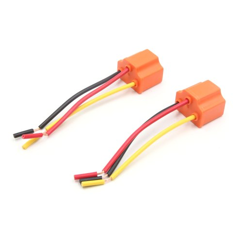 small resolution of car parts 2 pcs 3 wires h4 fog light extension wire harness socket connector for car