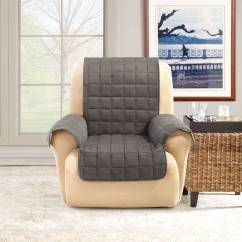 Waterproof Chair Covers For Recliners Small Drop Leaf Table With 2 Chairs Sure Fit Ultimate Quilted Pet Recliner Cover Walmart Com
