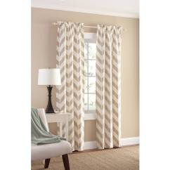 Chevron Living Room Curtains Lighting High Ceiling Tan Panel Pair 84 By Mainstay Walmart Com Departments