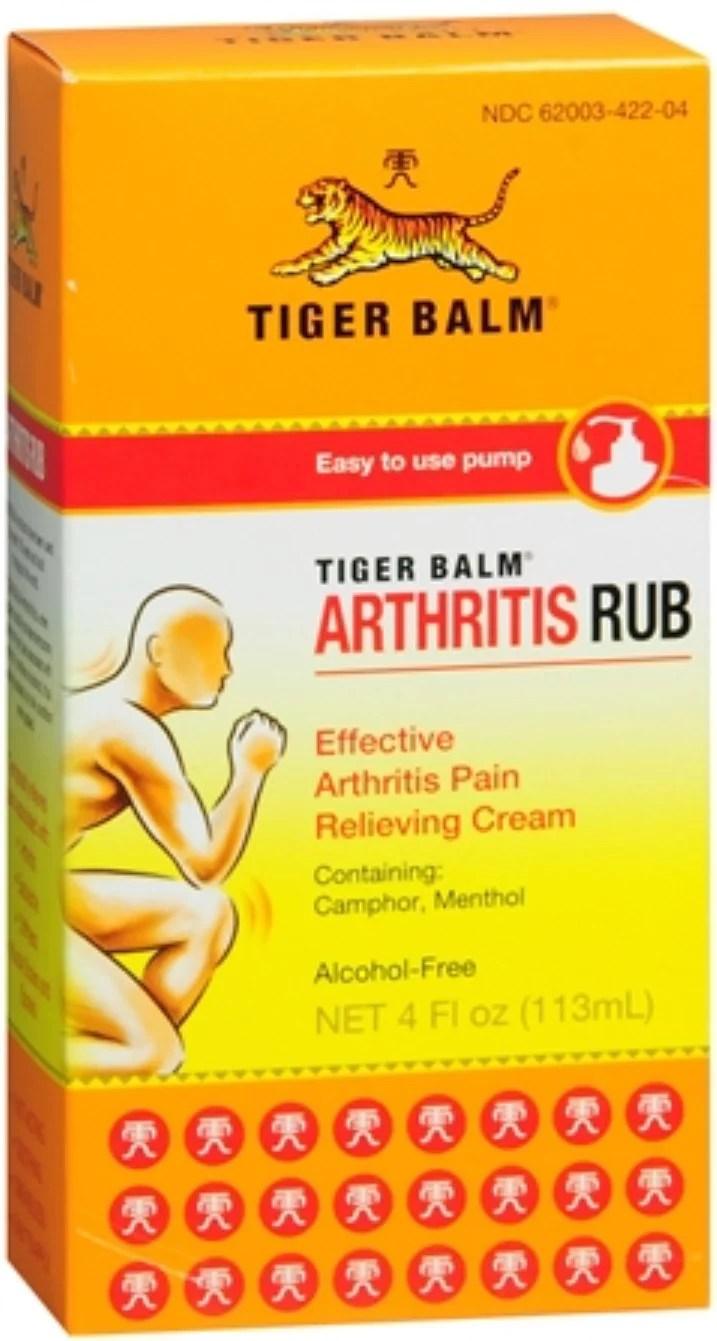 Tiger Balm Arthritis Rub 4 oz - Walmart.com - Walmart.com