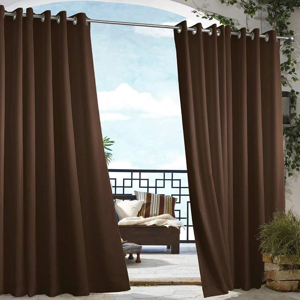 cross land waterproof outdoor curtain for patio garden balcony anti rust grommet thermal insulated grommet indoor outdoor curtain drape