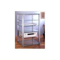 VTI EGR406 6 Shelf Silver Glass Audio Cabinet/Rack ...