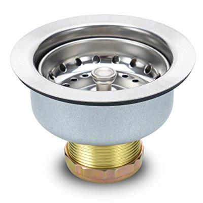 3 inch kitchen sink drain assembly with strainer 304 stainless steel strainer and drain kit regular basket