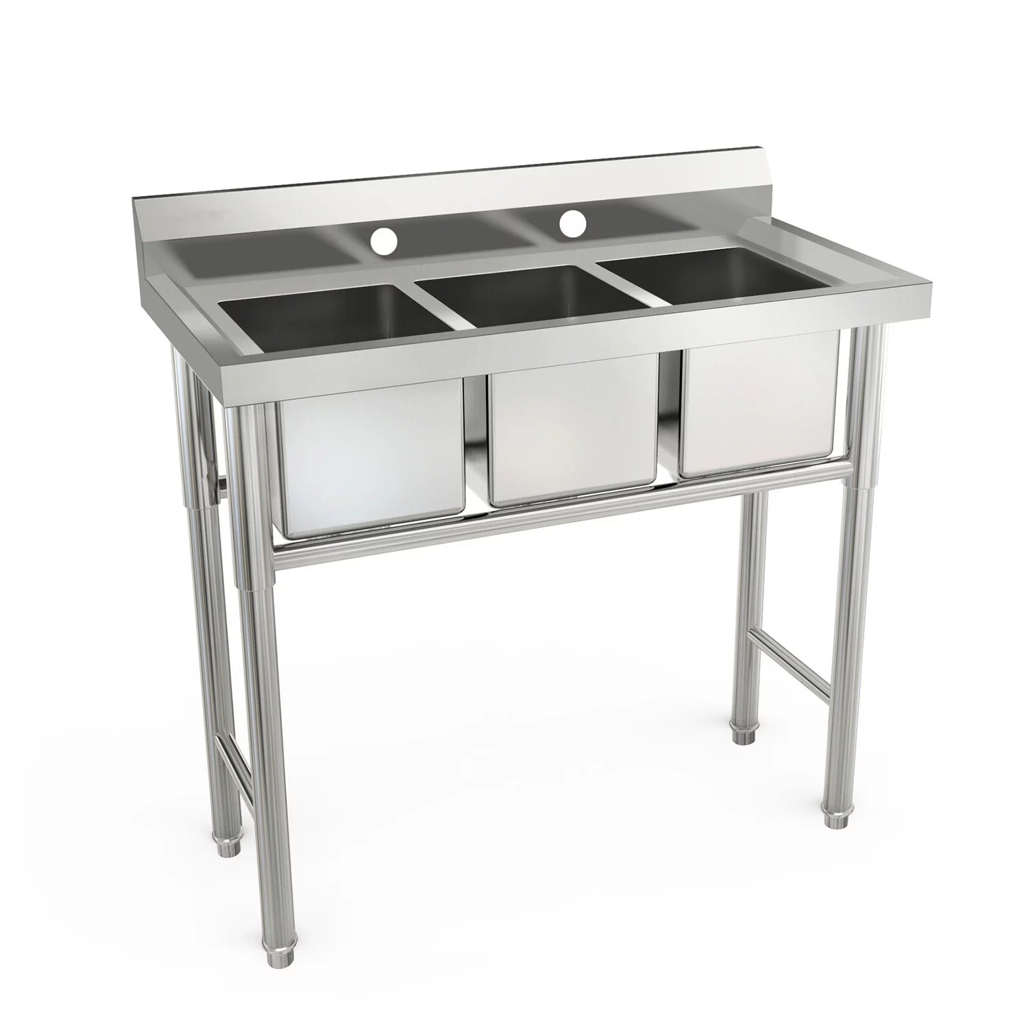 ktaxon heavy duty 39 3 compartment commercial stainless steel sink walmart com