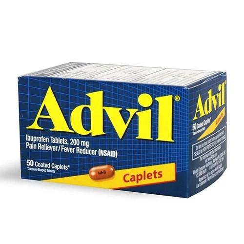 Advil Advanced Medicine For Pain 200 Mg Caplets 50 Ea