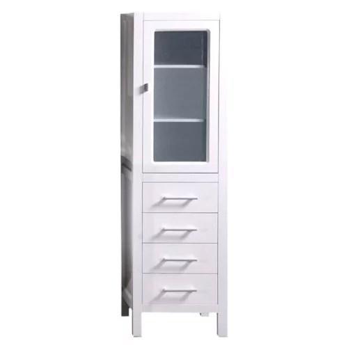 Design Element 66'' x 18'' Freestanding Linen Cabinet