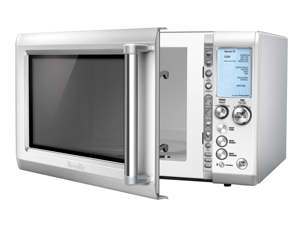breville the quick touch microwave oven w sensor iq