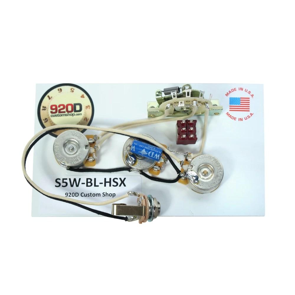 medium resolution of 920d fender stratocaster wiring harness w blender for jbe two tone humbucker