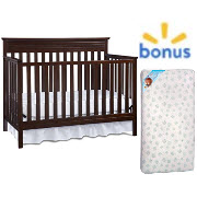 Fisher Price Newbury 4 In 1 Convertible Crib Kolcraft Mattress Value Bundle