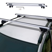 Universal Car Wagon Aluminum Cross Bars Roof Top Rail Rack ...