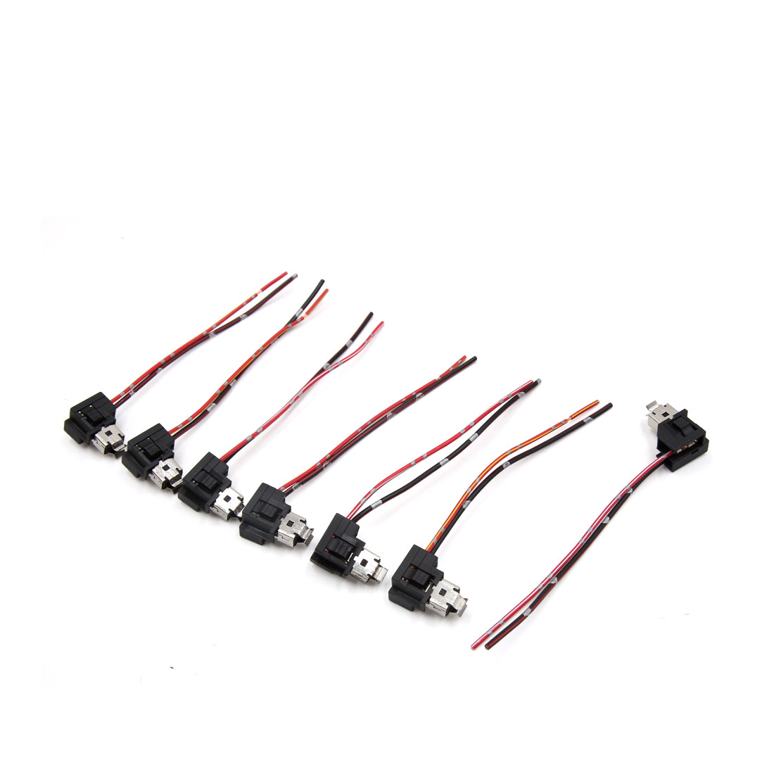 7pcs h1 dc 12v car bulb holder light socket headlight connector wire harness [ 1100 x 1100 Pixel ]