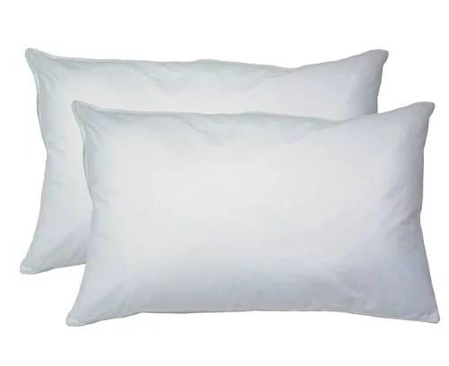 2 pack hypoallergenic down alternative bed pillow queen size