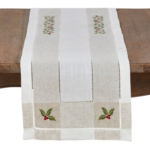 sofa table runners small sofas argos the holiday aisle geoffrey holly runner walmart com