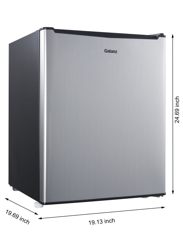 Stainless Steel Mini Refrigerator Compact Dorm Office