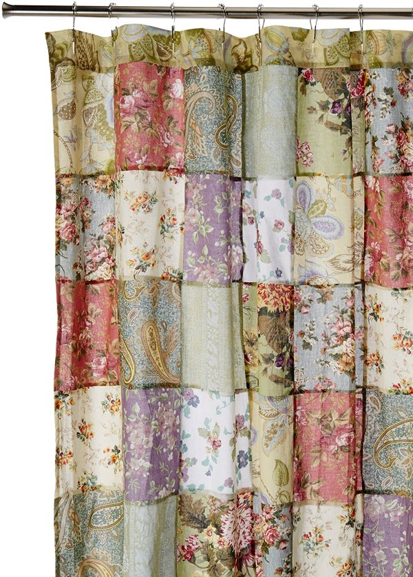 Blooming Prairie Shower Curtain 100-percent Cotton And